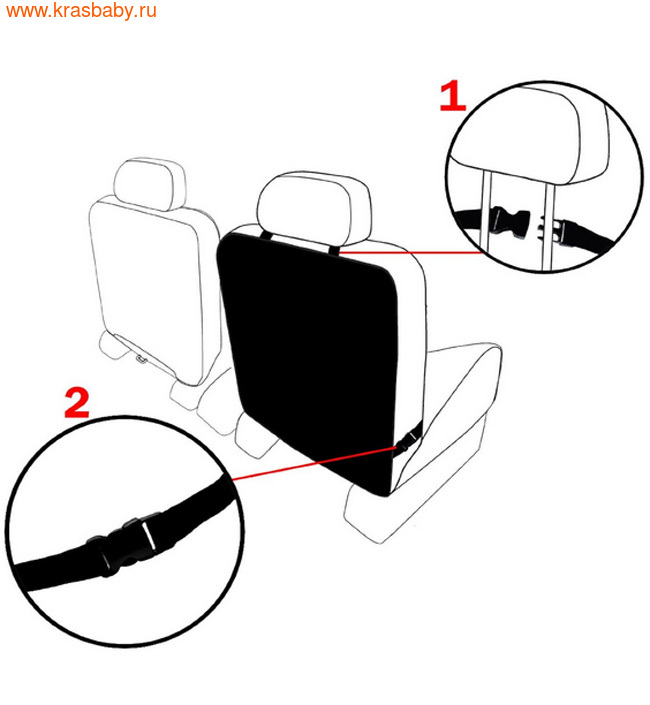 Аксессуары для авто BRITAX ROEMER Чехол для спинки переднего сиденья автомобиля Kick Mats черный (2 шт.) Артикул: 2000012236 (фото, вид 2)