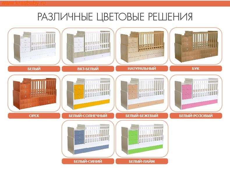 Кровать-трансформер Polini Simple 110 (фото, вид 3)