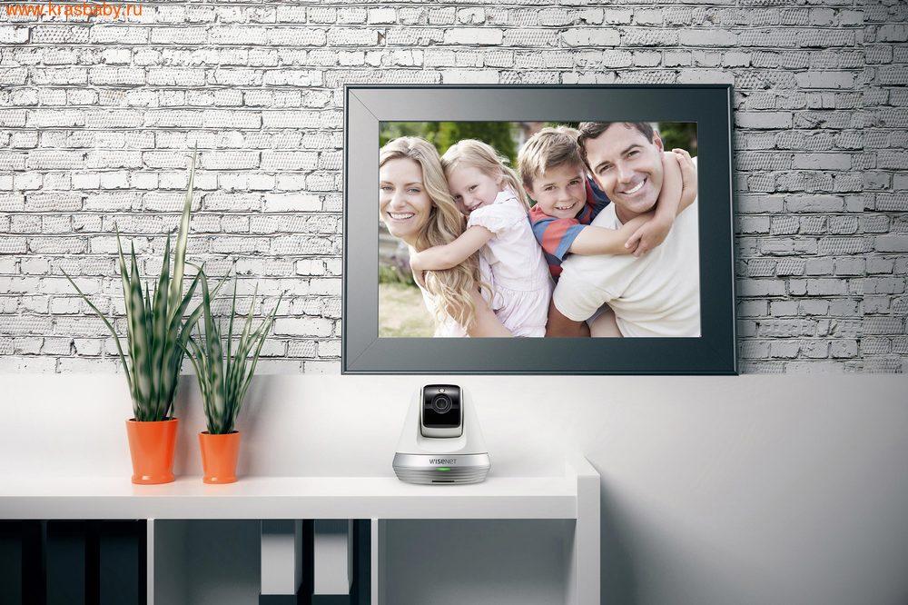 Видеоняня Wisenet Wi-Fi Видеоняня SmartCam SNH-V6410PNW (фото, вид 7)
