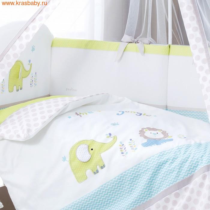 Комплект постельного белья PERINA Комплект в кроватку Джунгли из сатина (7 предметов) (фото, вид 2)