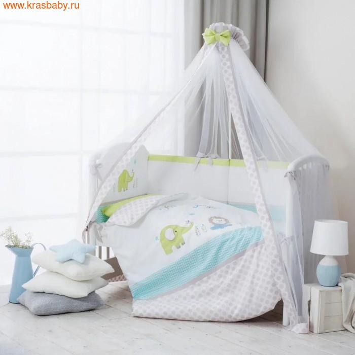 Комплект постельного белья PERINA Комплект в кроватку Джунгли из сатина (7 предметов) (фото, вид 4)