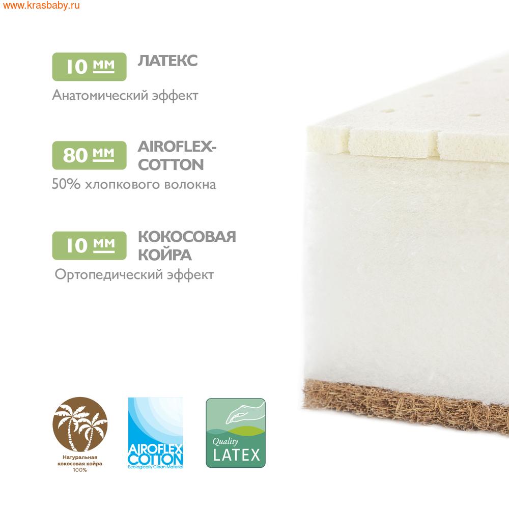 Матрас детский PLITEX Детский Матрас Organic Cotton 119*60*11 см (фото, вид 4)