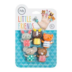 HAPPY BABY Набор ПВХ-игрушек для ванной LITTLE FRIENDS. Вид 2