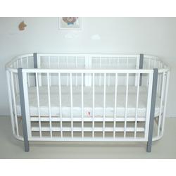 Кровать-трансформер Секция 1100-680 Белая для Прямоугольной кроватки PAPPY. Вид 2