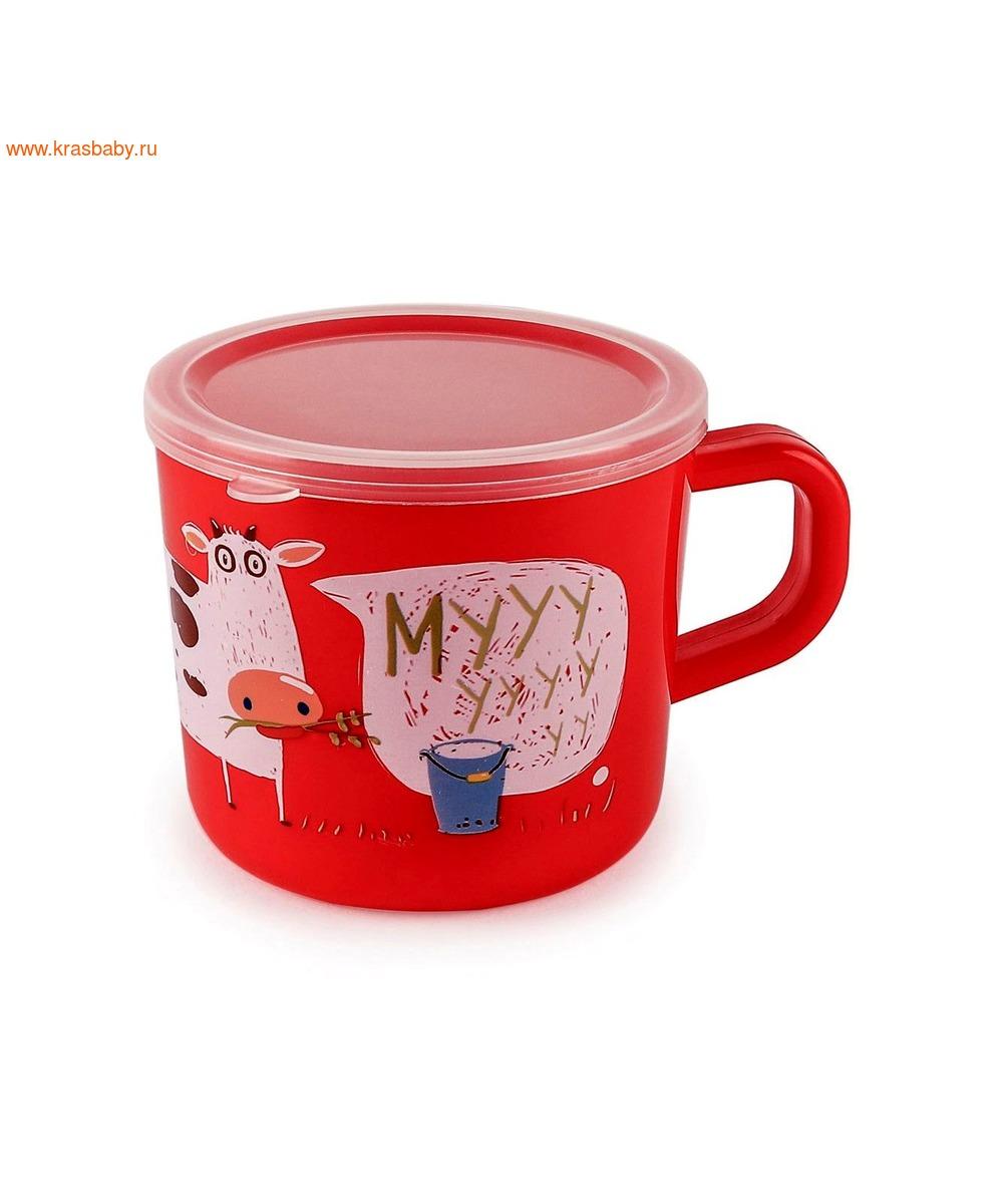 HAPPY BABY Кружка с ручкой и крышкой TRAINING CUP (фото)