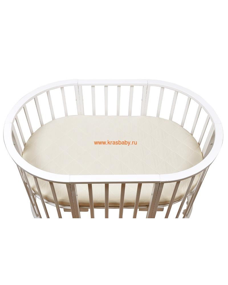 Матрас детский BAMBOLA в овальную кроватку OVAL HOLO+KOKOS (125*75*8)см (фото)