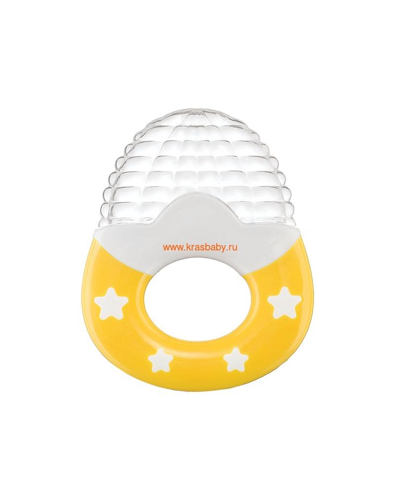 Прорезыватель HAPPY BABY SILICONE TEETHER (силиконовый с ручкой)