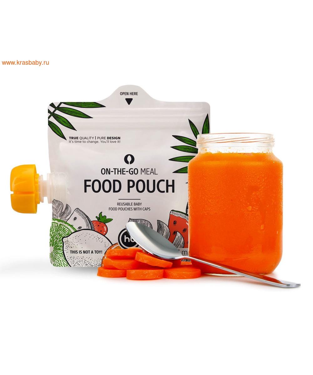 HAPPY BABY Многоразовые пакеты для детского питания FOOD POUCH (фото)