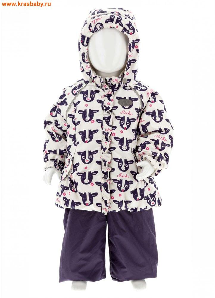 REIKE Комплект для девочки (куртка+полукомбинезон) moomoo white (фото)