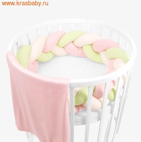 Бортик для кроватки ЗОЛОТОЙ ГУСЬ Косичка (фото, Земляничка, 8086)