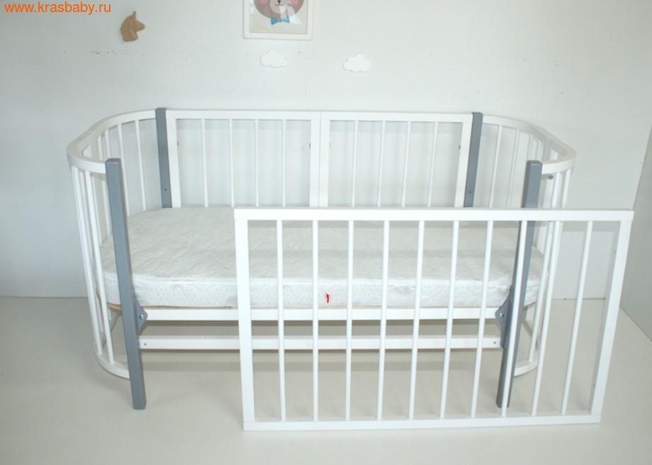 Кровать-трансформер Секция 1100-680 Белая для Прямоугольной кроватки PAPPY (фото)