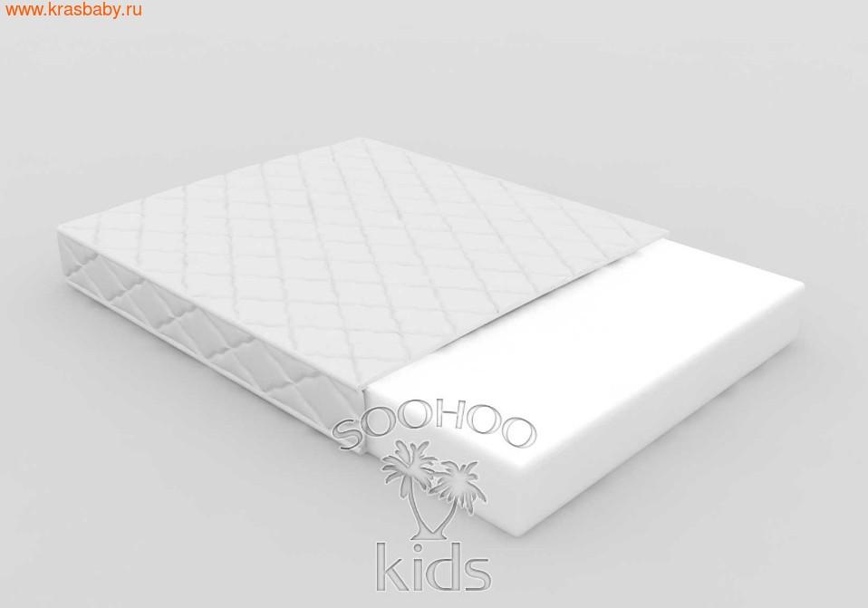 Матрас детский SOOHOOKIDS в колыбель PAPPY прямоугольная Холкон (8см)