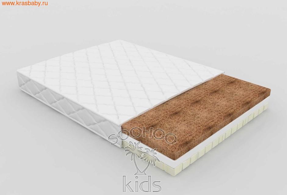Матрас детский SOOHOOKIDS в колыбель PAPPY прямоугольная Кокос Холкон Латекс (11см)