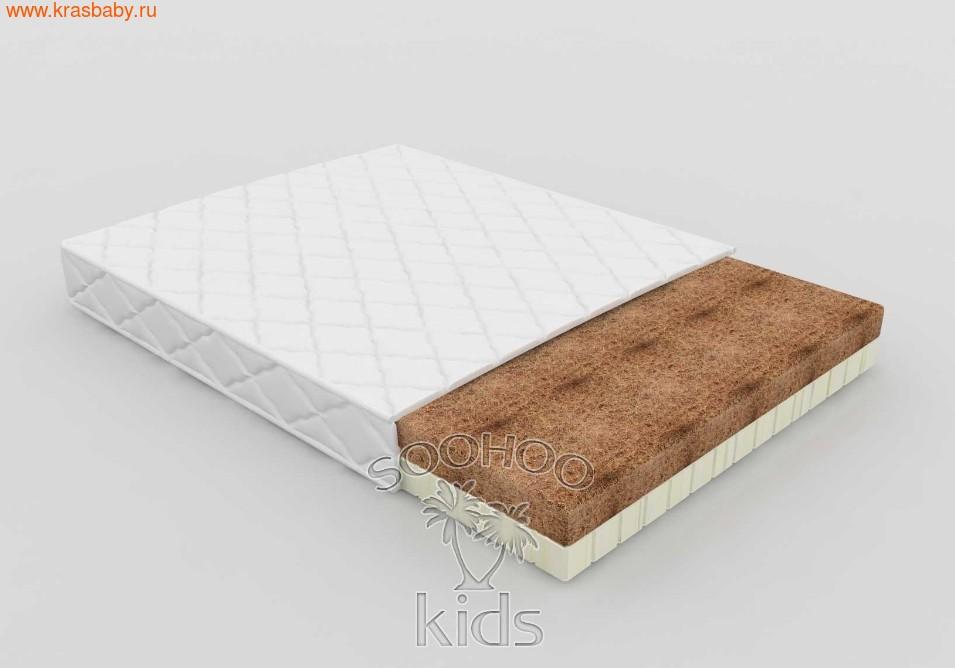 Матрас детский SOOHOOKIDS в колыбель PAPPY прямоугольная 900*620 Кокос Латекс (8см)