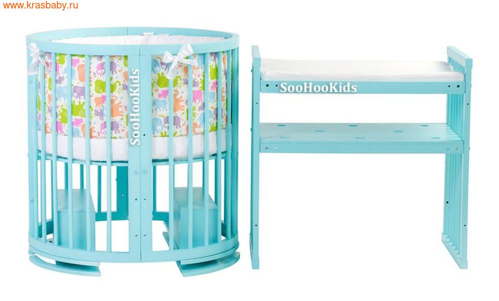 Матрас детский SOOHOOKIDS для пеленания ППУ 60*40см на 8 в 1
