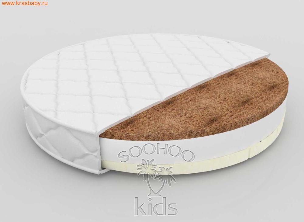 Матрас детский SOOHOOKIDS в колыбель Кокос Холкон Латекс 11см на 8 в 1 (фото)