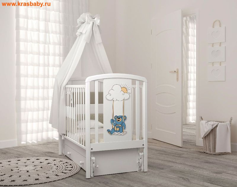 Кроватка GANDYLYAN Жаклин (мишка на качелях)