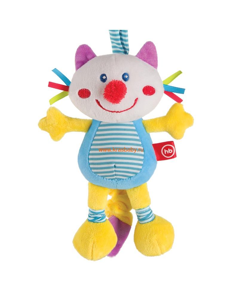 "HAPPY BABY Подвесная игрушка-растяжка с вибрацией ""Кот"" (фото)"