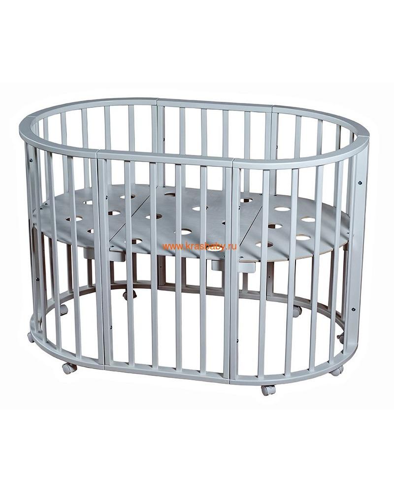 Кроватка МОЙ МАЛЫШ НИКОЛЬ (круглая)