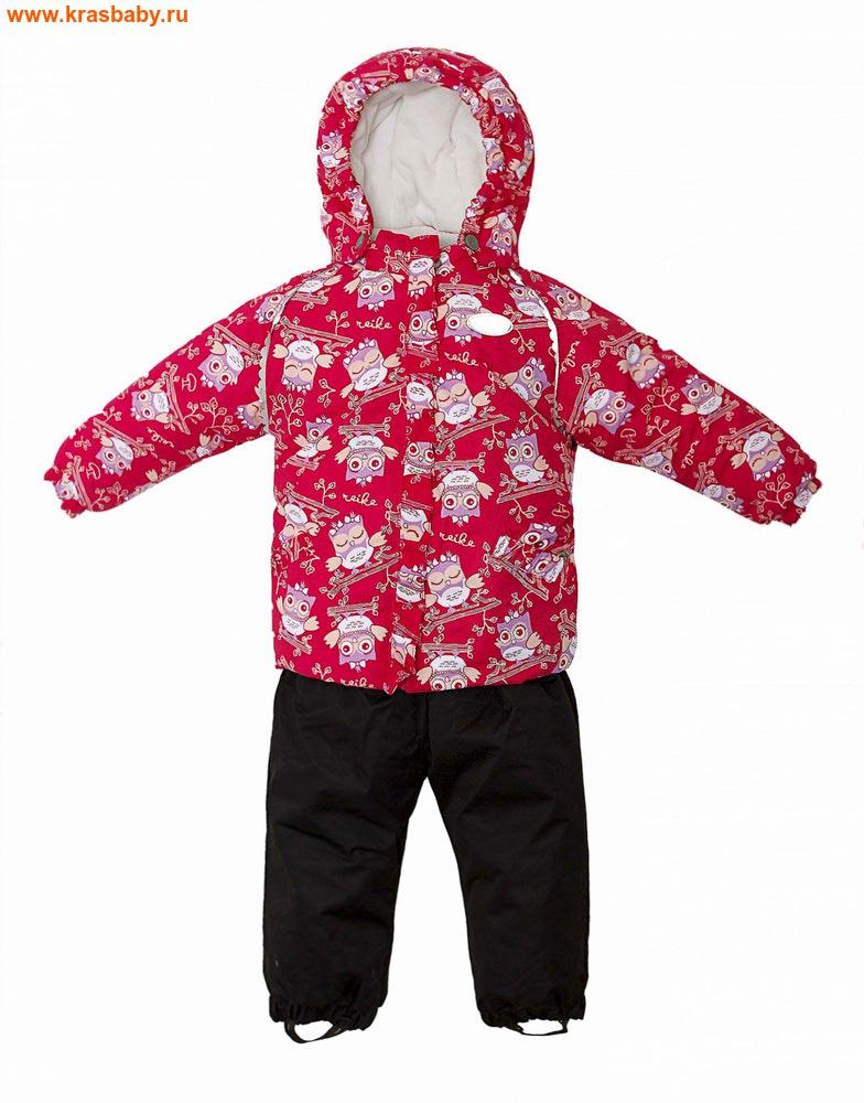 REIKE Комплект для девочки (куртка+полукомбинезон) owls pink (фото)
