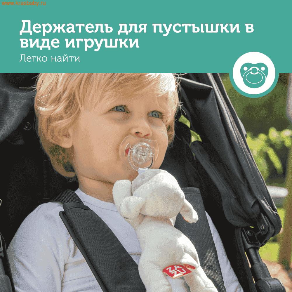 держатель для пустышки ZAZU с игрушкой Овечка Лиззи, Ослик Донни, Щенок Декси (фото)