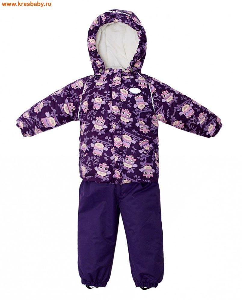 REIKE Комплект для девочки (куртка+полукомбинезон) owls violet (фото)