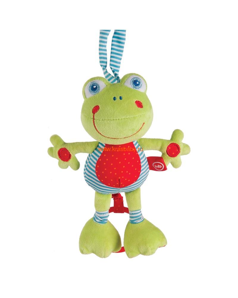 """HAPPY BABY Подвесная музыкальная игрушка-растяжка """"Лягушка"""" (фото)"""