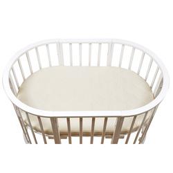 Матрас детский BAMBOLA в овальную кроватку OVAL HOLO+KOKOS (125*75*8)см