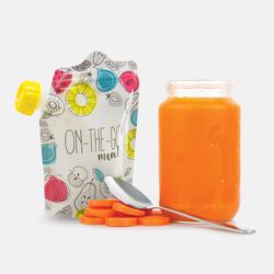 HAPPY BABY Многоразовые пакеты для питания BABY FOOD POUCHES ON-THE-GO