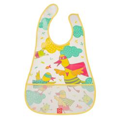 HAPPY BABY Нагрудник водонепроницаемый с кармашком WATERPROOF BABY BIB