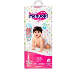 Manuoki Подгузники-трусики размер L 9-14кг, 44 шт