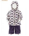REIKE Комплект для девочки (куртка+полукомбинезон) moomoo white