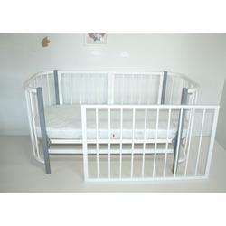 Кровать-трансформер Секция 1100-680 Белая для Прямоугольной кроватки PAPPY
