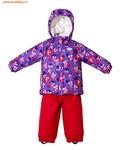 REIKE Комплект для девочки (куртка+полукомбинезон) mice violet