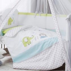 Комплект постельного белья PERINA Комплект в кроватку Джунгли из сатина (7 предметов)