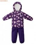 REIKE Комплект для девочки (куртка+полукомбинезон) owls violet