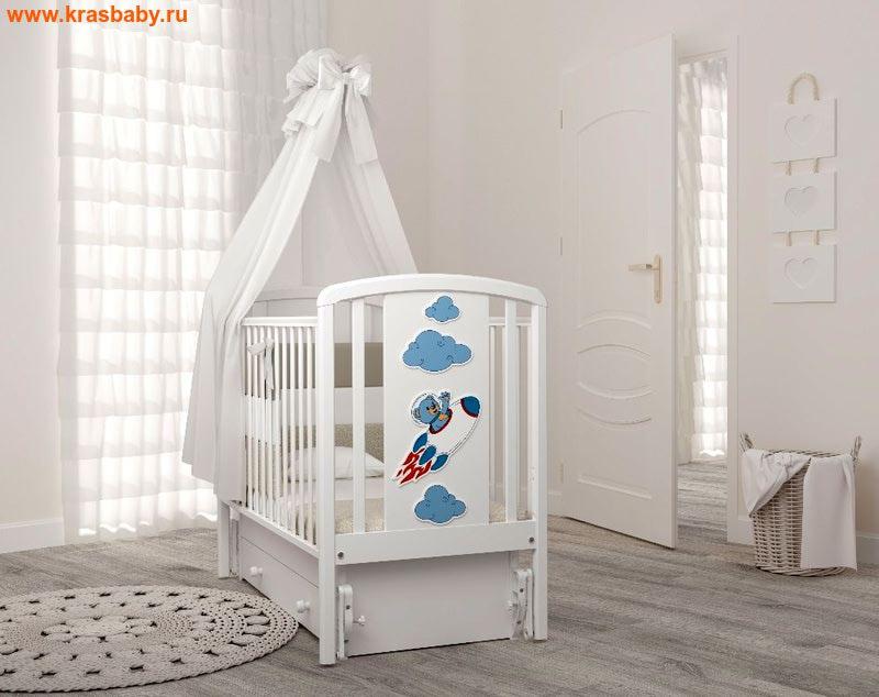 GANDYLYAN Кроватка Жаклин (мишка на ракете)