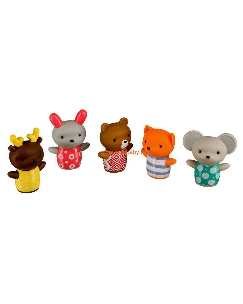 HAPPY BABY Набор ПВХ-игрушек для ванной LITTLE FRIENDS