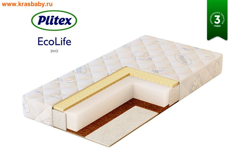 ПЛИТЕКС Детский матрац ECO LIFE (120x60 см)