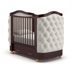 GANDYLYAN Кроватка на колесах Тиффани декор пуговицы