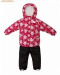 REIKE Комплект для девочки (куртка+полукомбинезон) owls pink