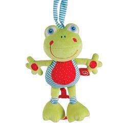 """HAPPY BABY Подвесная музыкальная игрушка-растяжка """"Лягушка"""""""